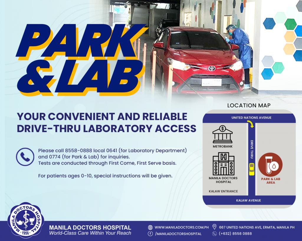 Park and Lab Drive-Thru Laboratory Service